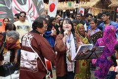En japansk sångare Arkivfoton