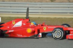 En Jerez de Fernando Alonso Foto de archivo