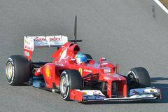 En Jerez de Fernando Alonso Photo stock
