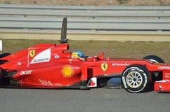 En Jerez Fernando Alonso stockfoto