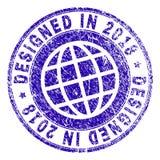 en 2018 joint CONÇU texturisé rayé de timbre illustration libre de droits