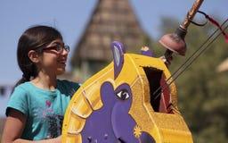 En Joustritt på den Arizona renässansfestivalen Royaltyfri Bild