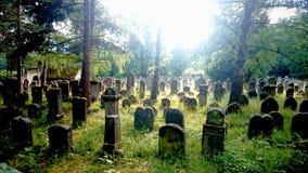 En judisk kyrkogård Arkivfoton