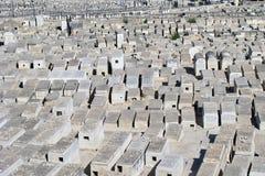En judisk kyrkogård i Jerusalem Arkivbilder