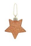 En julleksak i form av stjärnor på en vit bakgrund. Royaltyfria Foton