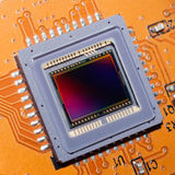 En känslig matris av den digitala fotokameran Royaltyfri Fotografi
