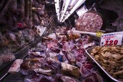 En köttmarknad i Florence, Italien Arkivbild