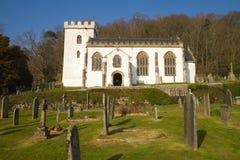 Selworthy kyrkliga Somerset England Royaltyfria Bilder