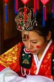 En kapacitet av det traditionella koreanska bröllop. royaltyfria foton