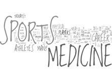 En karriär i det sportMedicineword molnet royaltyfri illustrationer