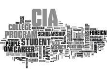 En karriär med CIA-ordmolnet stock illustrationer