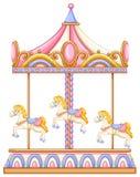 En karusell som roterar ritt vektor illustrationer