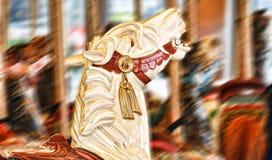 En karusellhäst Fotografering för Bildbyråer