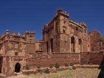 En kasbah i Marocko Arkivfoton