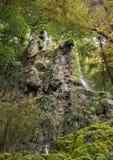 En kaskad av den Gueterstein vattenfallet Royaltyfri Fotografi
