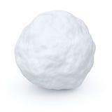 En kastar snöboll Arkivfoto
