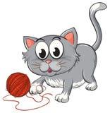 En katt stock illustrationer