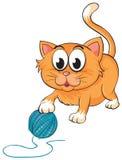 En katt royaltyfri illustrationer
