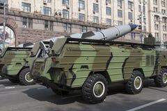 En Kiev en desfile de los militares de Khreshchatyk Fotos de archivo