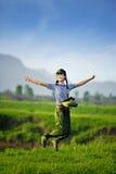 En kinesisk flicka i likformig royaltyfri fotografi