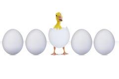 Kläckt ägg som isoleras på vit vektor illustrationer