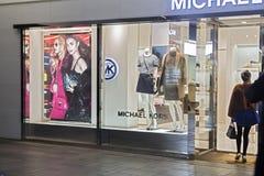 En klänning shoppar royaltyfria foton