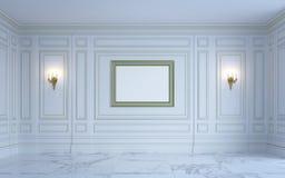 En klassisk inre är i ljusa signaler framförande 3d Royaltyfria Foton