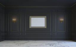 En klassisk inre är i mörka signaler framförande 3d Arkivbilder