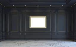 En klassisk inre är i mörka signaler framförande 3d Royaltyfria Foton