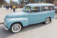 En klassisk Volvo Duett bil Arkivfoto