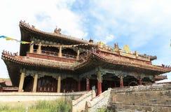 En kloster i Mongoliet royaltyfria foton