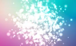 En klunga av glödande ljus av olika format suddigheta lampor Stadsljusen på natten På blå bakgrund vektor vektor illustrationer