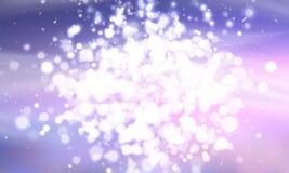 En klunga av glödande ljus av olika format suddigheta lampor Stadsljusen på natten På blå bakgrund vektor stock illustrationer
