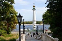 En kolonn av Magdeburg lag Arkivbilder