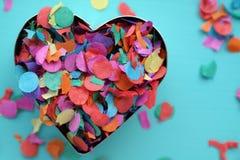 En konfettihjärta Royaltyfria Foton