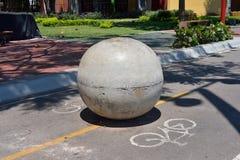 En konkret boll Arkivbild