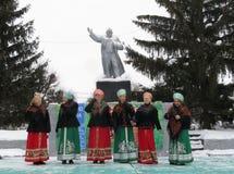 En konsert på berömmen av den Shrovetide dagen royaltyfri foto