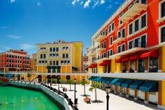 En konstgjord ö Pärla-Qatar i Doha, Qatar Royaltyfri Fotografi