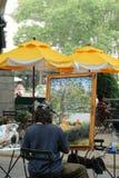 En konstnärmålning utomhus i en parkera i New York City Royaltyfria Foton
