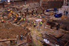 En konstruktionsplats i London Arkivbilder