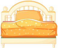 En konung storleksanpassad säng vektor illustrationer