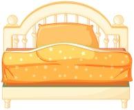 En konung storleksanpassad säng Arkivbilder