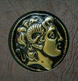 En kopia av gammalgrekiskamyntet, Alexander av Macedon, 3rd cent Fotografering för Bildbyråer