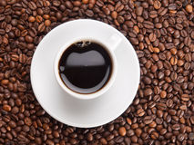 En kopp av coffe Arkivfoto