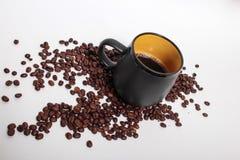 En kopp av coffe på morgonen royaltyfria bilder