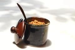 En kopp av den läckra kaffe- eller sockerkoppen Arkivfoto