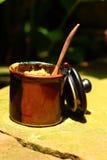 En kopp av den läckra kaffe- eller sockerkoppen Arkivfoton