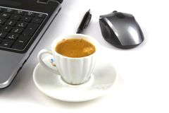 En kopp av kaffe Royaltyfri Foto