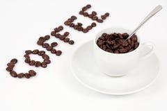En kopp av kaffebönor Royaltyfria Foton