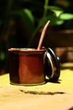 En kopp av läckert kaffe- eller koppsocker Arkivfoton